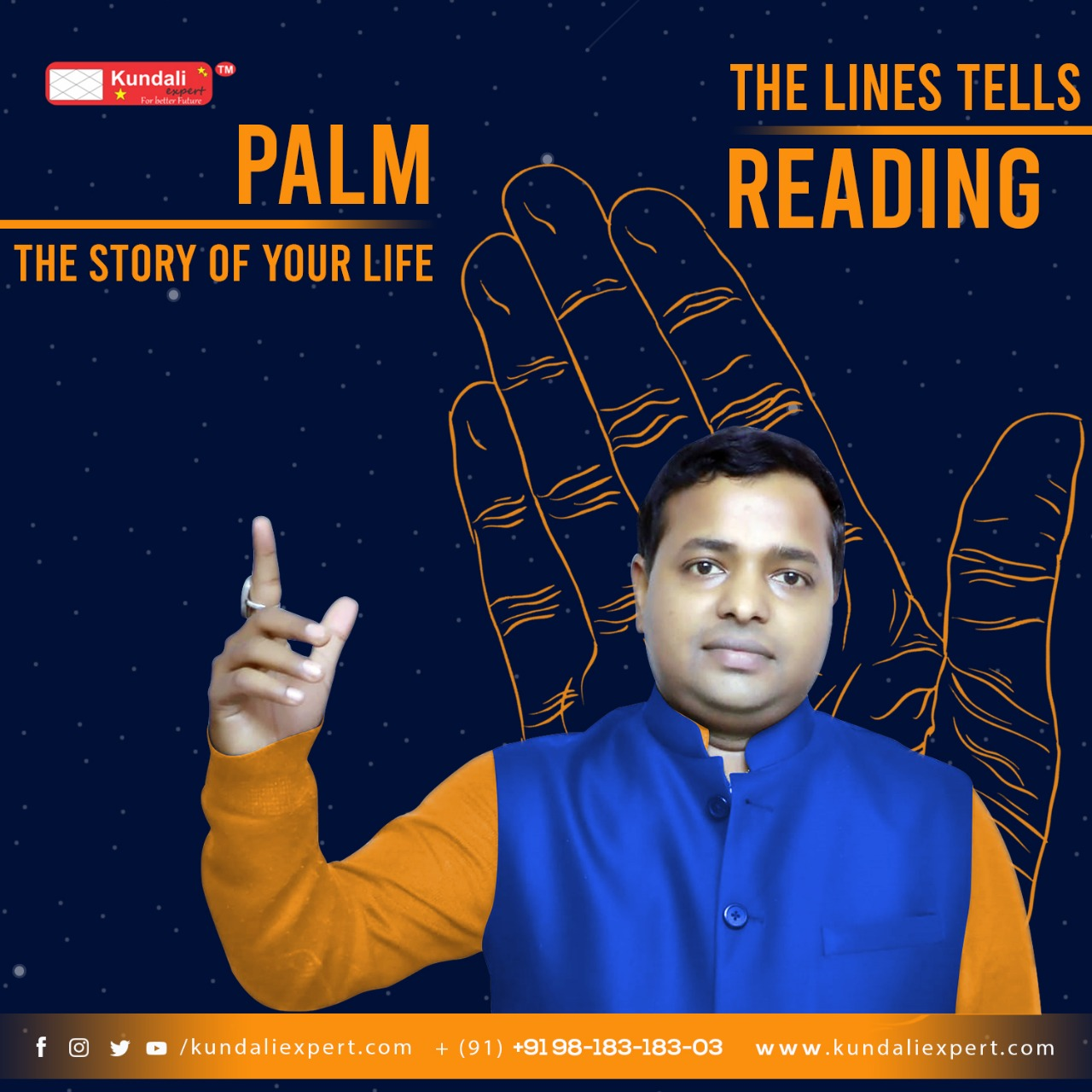 palm reading by KM Sinha