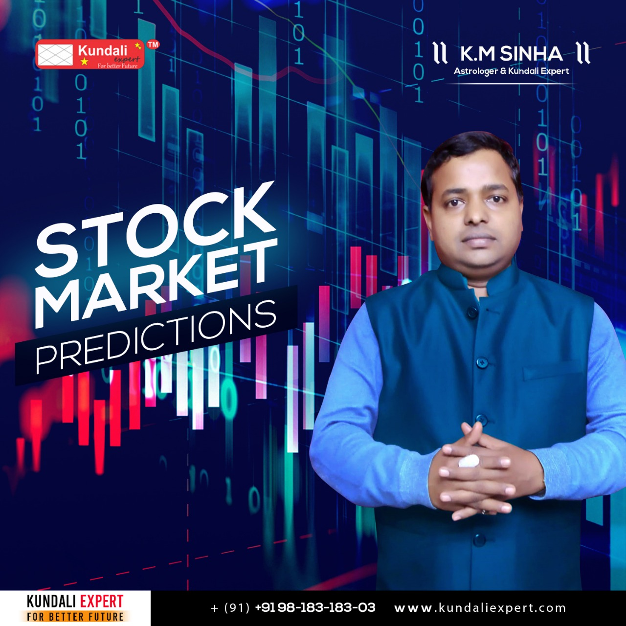 stock market Astrologer KM Sinha
